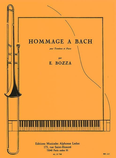 Eugène Bozza - Tribute to Bach - Partition - di-arezzo.com