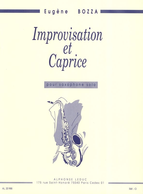 Eugène Bozza - Improvisation and Caprice - Partition - di-arezzo.com