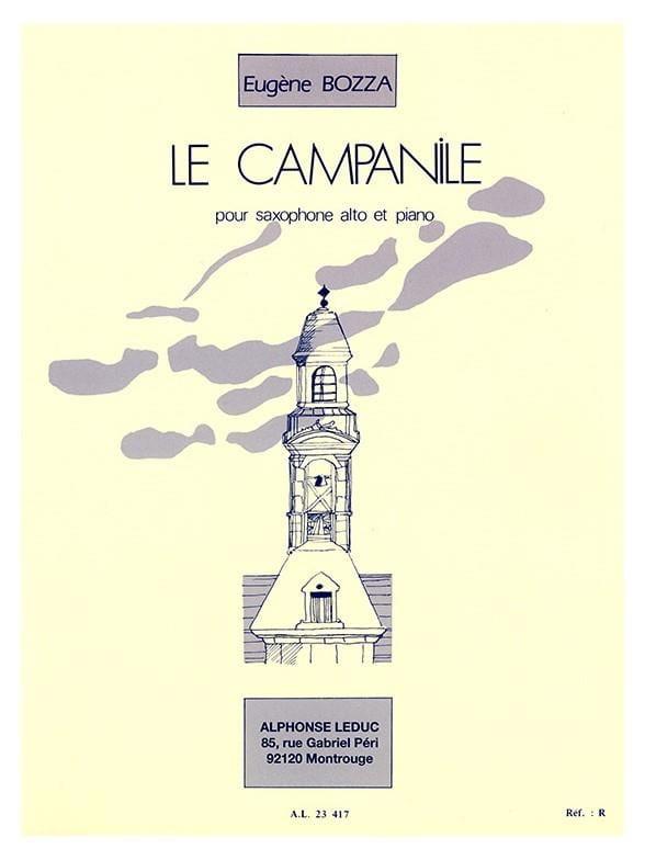 Le Campanile - Eugène Bozza - Partition - Saxophone - laflutedepan.com