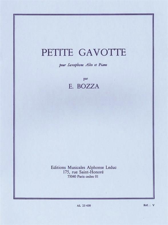 Petite Gavotte - Eugène Bozza - Partition - laflutedepan.com