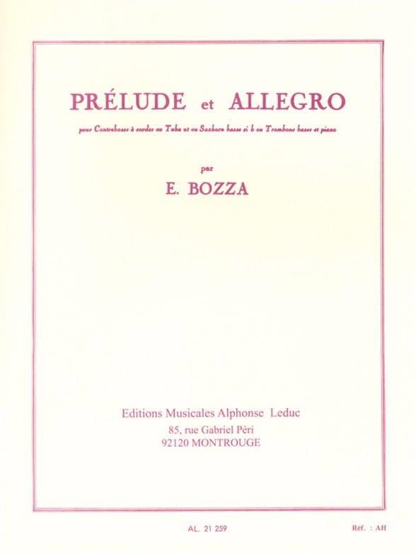 Eugène Bozza - Prelude and Allegro - Partition - di-arezzo.co.uk