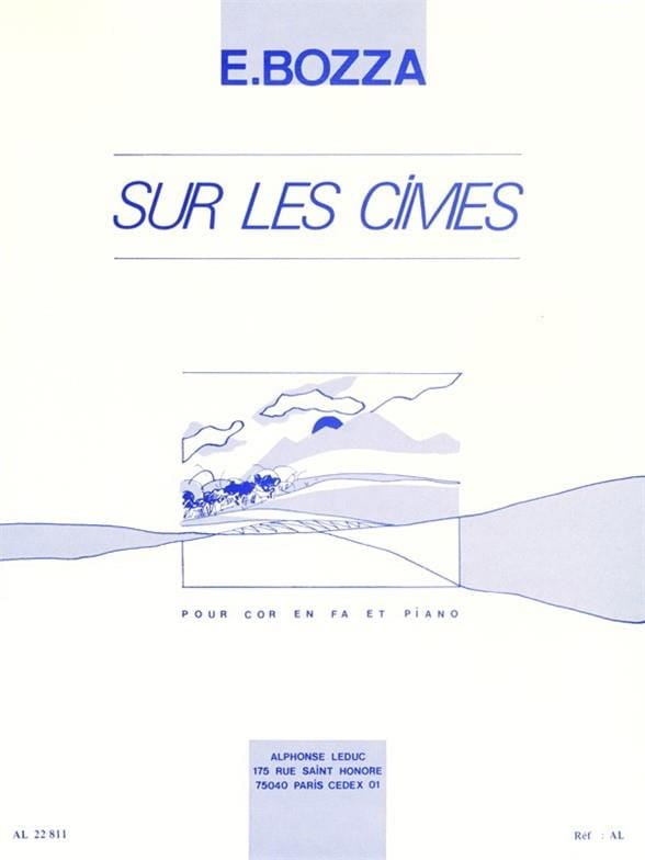 Eugène Bozza - Sur Les Cimes - Partition - di-arezzo.fr