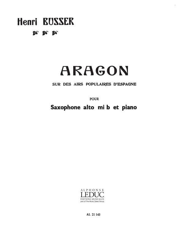 Henri Busser - Aragon - Partition - di-arezzo.com