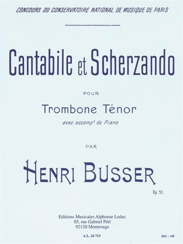 Henri Busser - Cantabile And Scherzando Opus 51 - Partition - di-arezzo.com