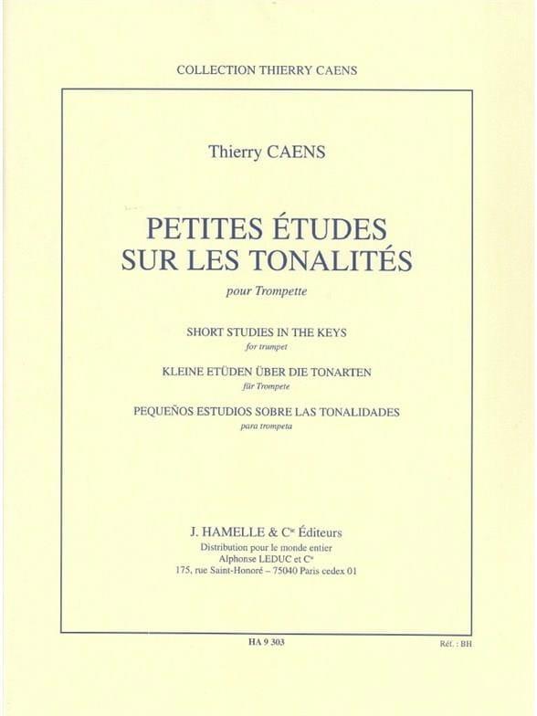 Petites études sur les tonalités - Thierry Caens - laflutedepan.com