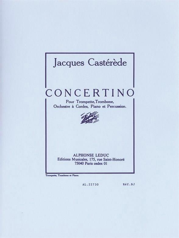 Concertino - Jacques Castérède - Partition - laflutedepan.com