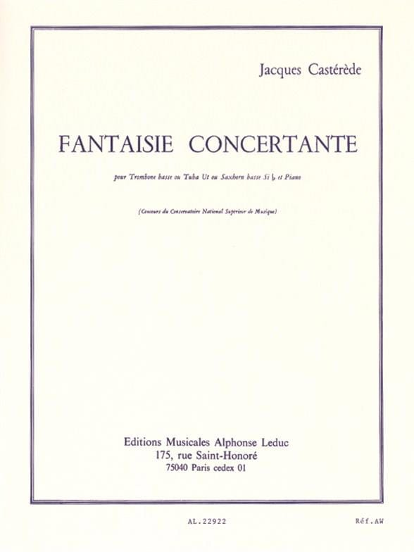 Jacques Castérède - Concertante Fantasy - Partition - di-arezzo.co.uk
