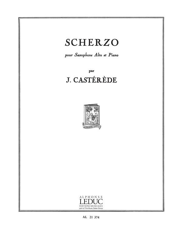Jacques Castérède - Scherzo - Partition - di-arezzo.co.uk