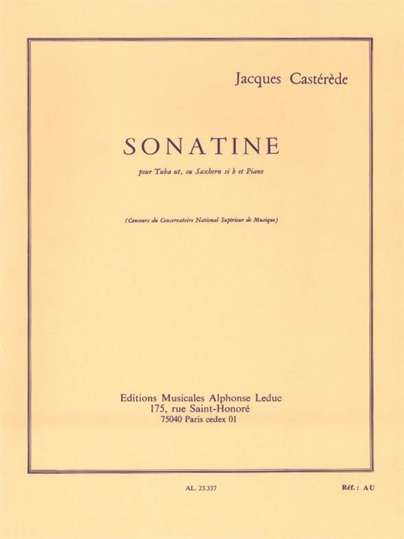 Jacques Castérède - Sonatine - Partition - di-arezzo.co.uk
