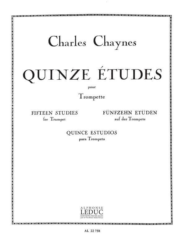 15 Etudes - Chaynes - Partition - Trompette - laflutedepan.com