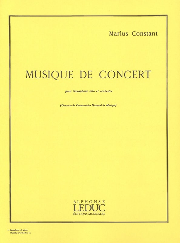 Marius Constant - Concert Music - Partition - di-arezzo.co.uk