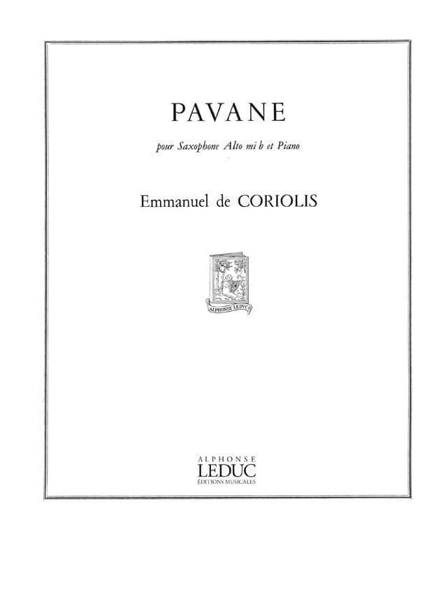 Pavane - Emmanuel De Coriolis - Partition - laflutedepan.com