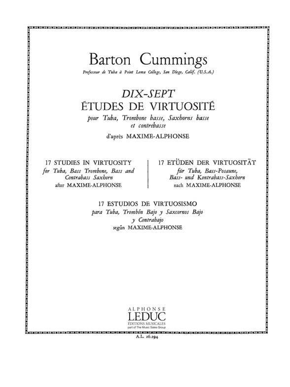 17 Etudes de Virtuosité - Barton Cummings - laflutedepan.com