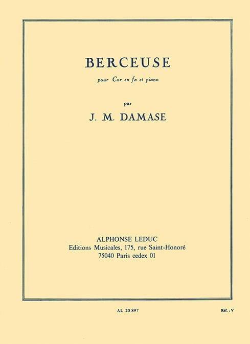 Jean-Michel Damase - Lullaby - Partition - di-arezzo.com