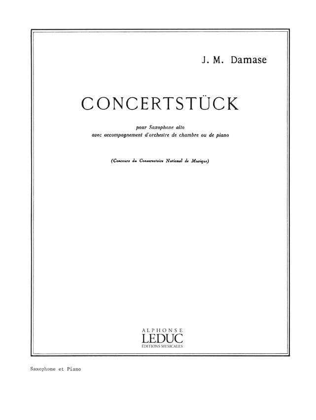 Jean-Michel Damase - Concertstuck - Partition - di-arezzo.com