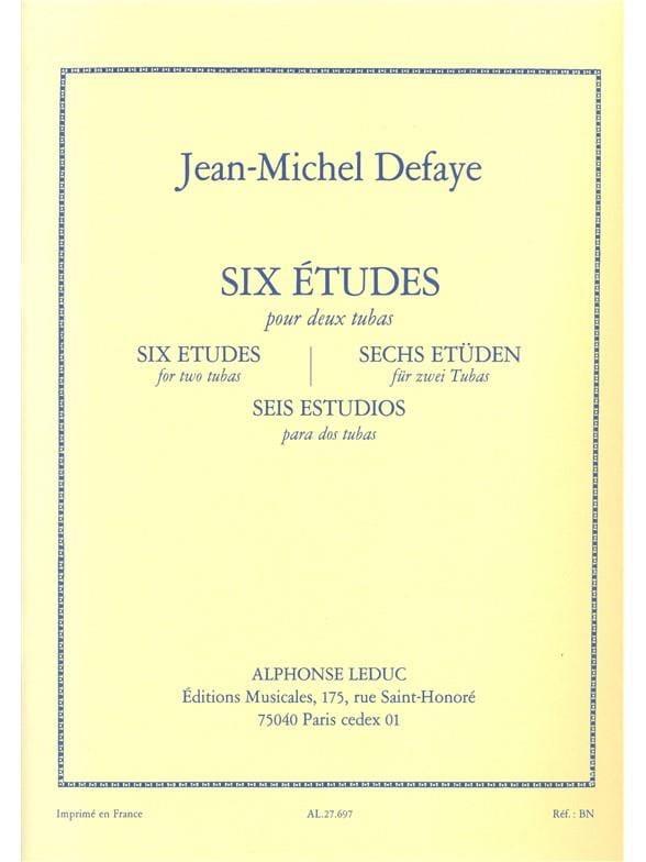 Jean-Michel Defaye - 6 estudios para 2 Tubas - Partition - di-arezzo.es