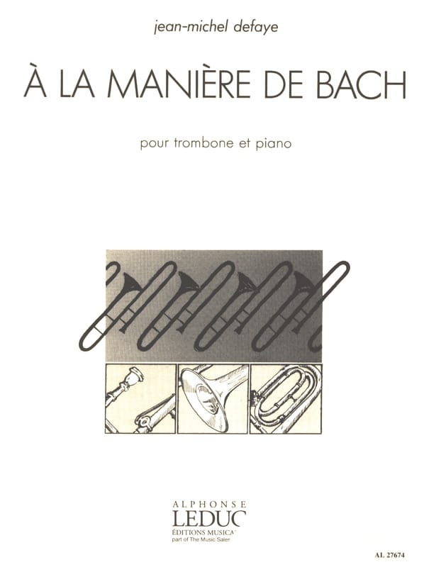 Jean-Michel Defaye - In the way of Bach - Partition - di-arezzo.com