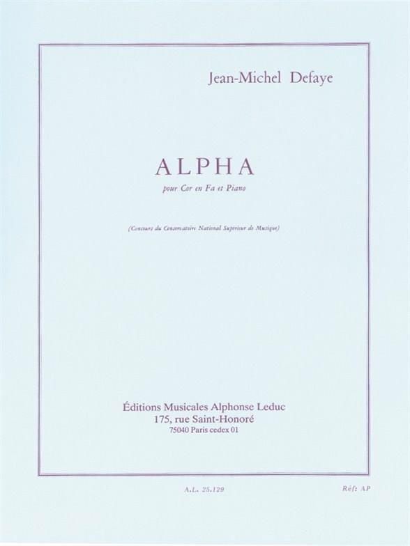 Jean-Michel Defaye - alfa - Partition - di-arezzo.es