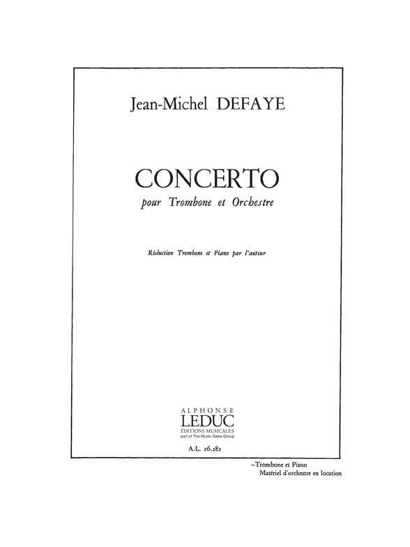 Jean-Michel Defaye - concierto - Partition - di-arezzo.es