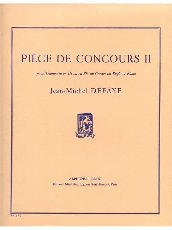 Pièce de Concours 2 - Jean-Michel Defaye - laflutedepan.com