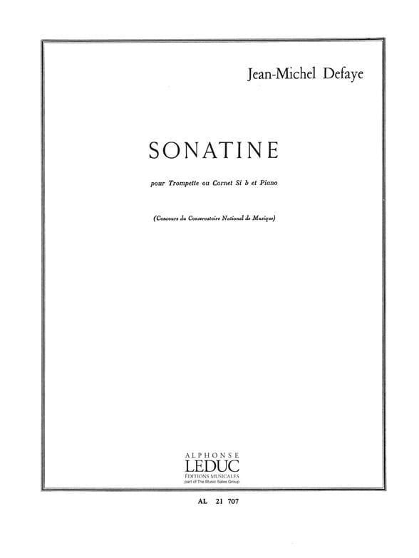 Jean-Michel Defaye - Sonatine - Partition - di-arezzo.fr