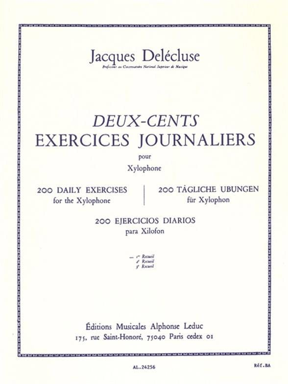Jacques Delécluse - 200 Exercices Journaliers Volume 1 - Partition - di-arezzo.fr