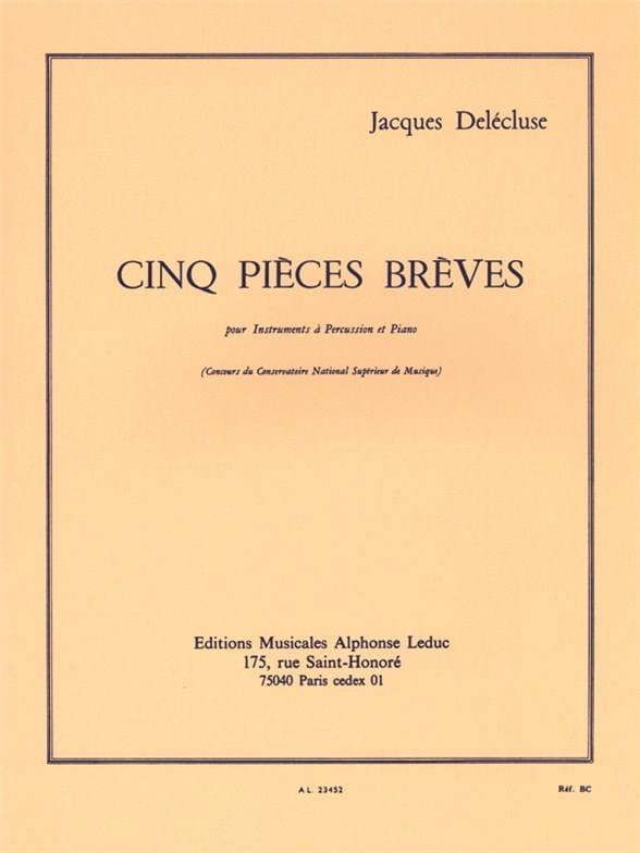 5 Pièces brèves - Jacques Delécluse - Partition - laflutedepan.com