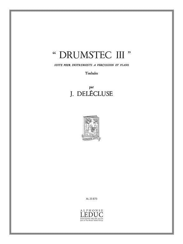 Jacques Delécluse - Drumstec N ° 3 - Partition - di-arezzo.co.uk