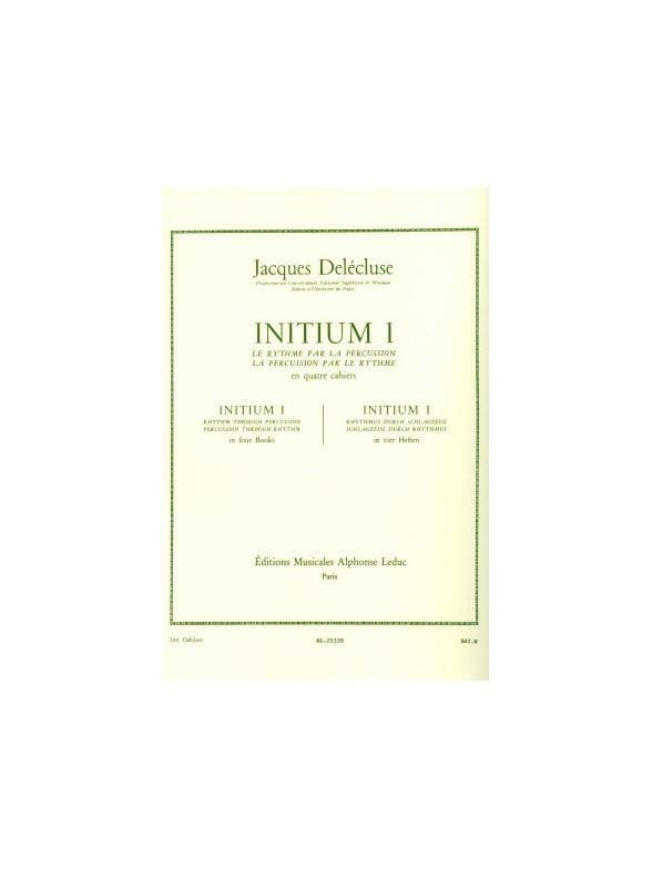 Jacques Delécluse - Initium 1 - Partition - di-arezzo.co.uk