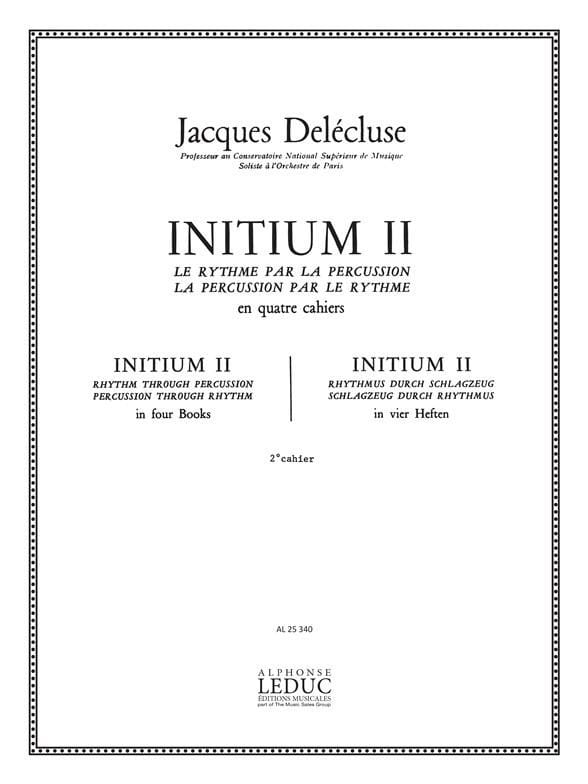 Jacques Delécluse - Initium 2 - Partition - di-arezzo.co.uk