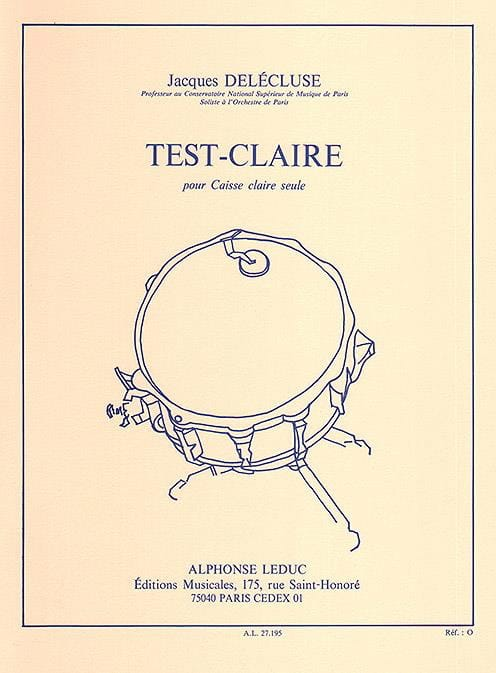 Jacques Delécluse - Test-Claire - Partition - di-arezzo.de