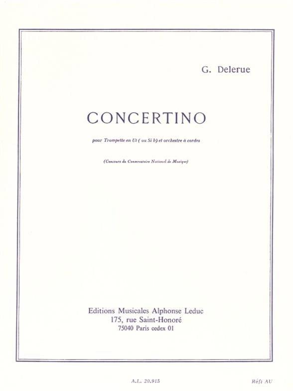 Concertino - Georges Delerue - Partition - laflutedepan.com