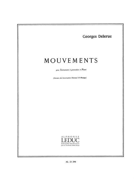 Mouvements - Georges Delerue - Partition - laflutedepan.com