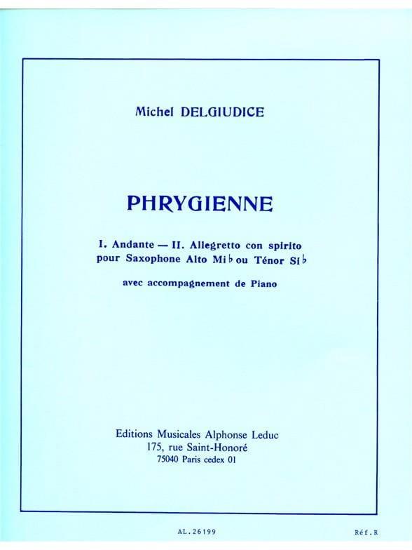 Michel Del Giudice - Phrygian - Partition - di-arezzo.com