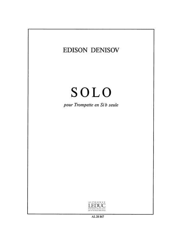 Edison Denisov - Solo - Partition - di-arezzo.com