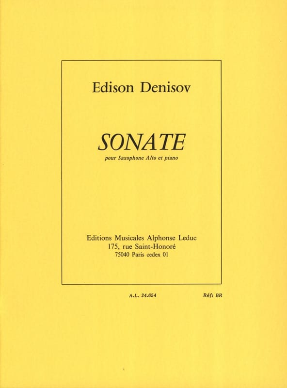 Edison Denisov - Sonata - Partition - di-arezzo.co.uk