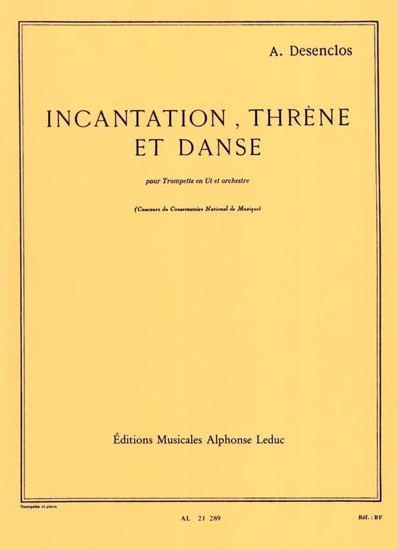 Incantation Thrène Et Danse - Alfred Desenclos - laflutedepan.com