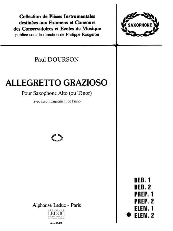 Allegretto Grazioso - Paul Dourson - Partition - laflutedepan.com
