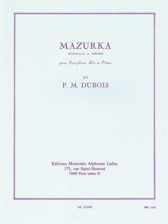 Pierre-Max Dubois - Mazurka - Partition - di-arezzo.com