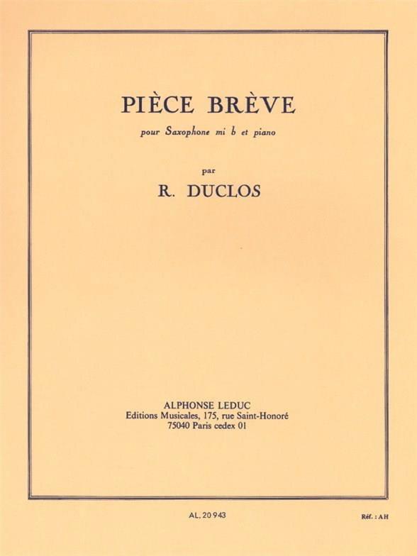 Pièce Brève - René Duclos - Partition - Saxophone - laflutedepan.com
