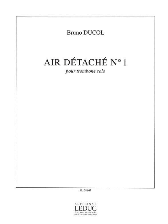 Air Détaché N° 1 - Bruno Ducol - Partition - laflutedepan.com