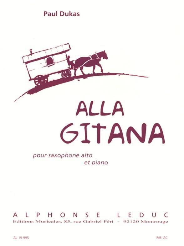 Paul Dukas - Alla Gitana - Partition - di-arezzo.co.uk