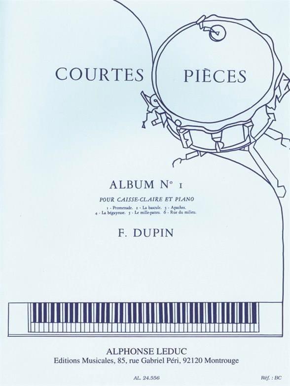 Courtes Pièces Album N° 1 - François Dupin - laflutedepan.com