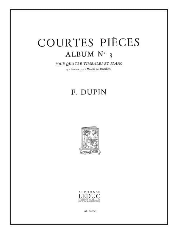 François Dupin - Short Pieces Album N ° 3 - Partition - di-arezzo.co.uk