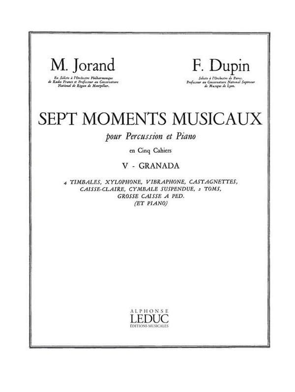 7 Moments Musicaux Volume 5 - Granada - laflutedepan.com
