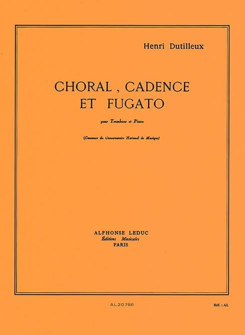 Choral Cadence Et Fugato - DUTILLEUX - Partition - laflutedepan.com
