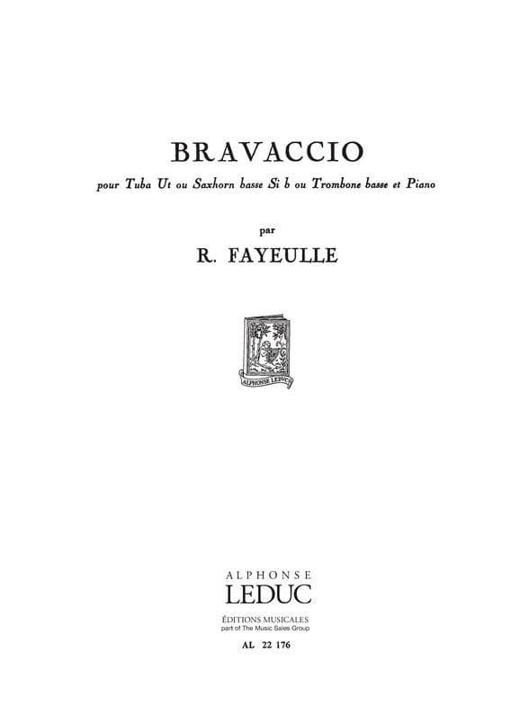 Bravaccio - Roger Fayeulle - Partition - Tuba - laflutedepan.com