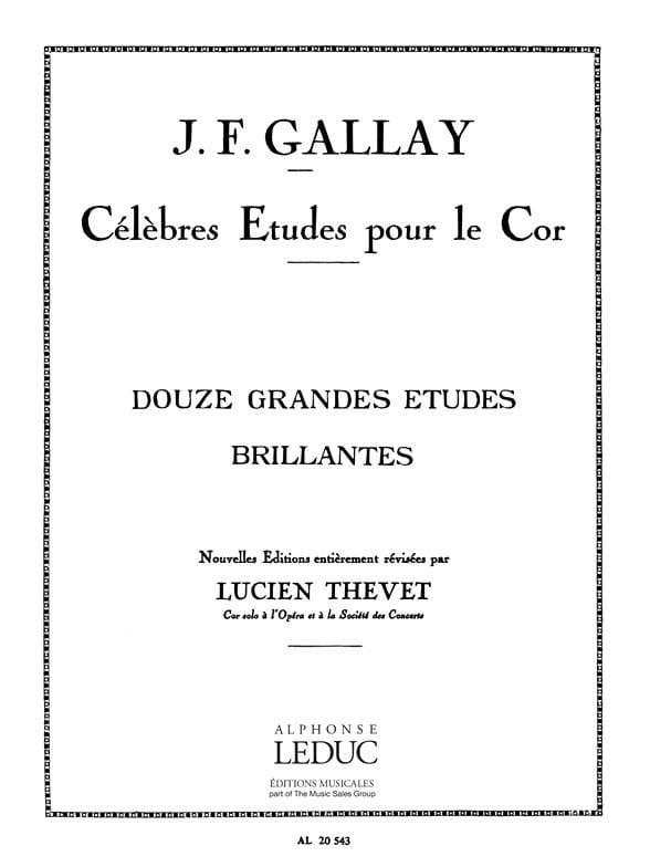 12 Grandes Etudes Brillantes - Gallay / thevet - laflutedepan.com