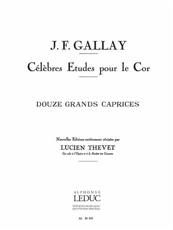 Jacques-François Gallay - 12 Grands Caprices Opus 32 - Partition - di-arezzo.com