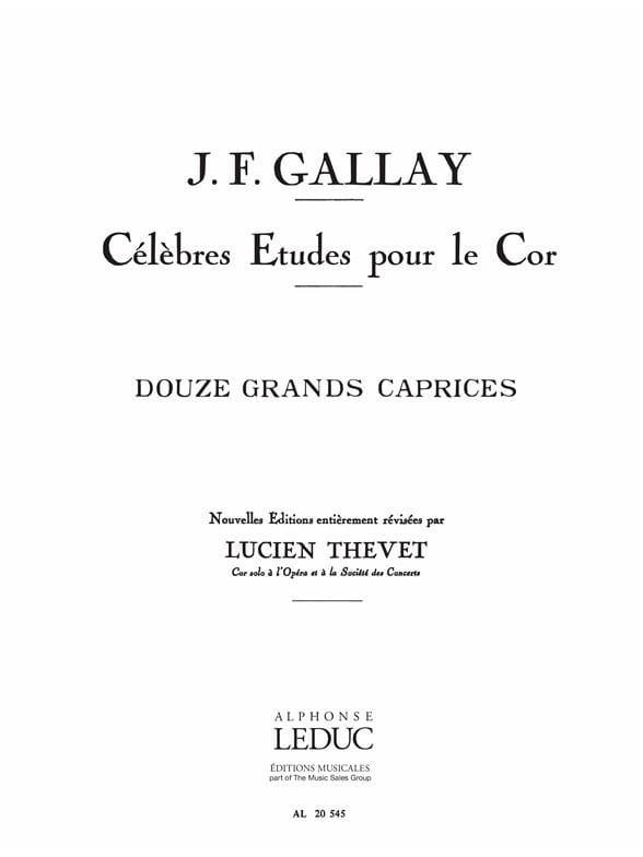 Jacques-François Gallay - 12 Grands Caprices Opus 32 - Partition - di-arezzo.fr